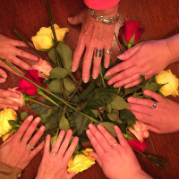 roses and hands